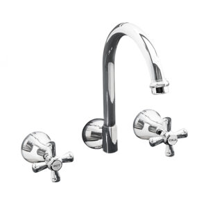 LINKWARE P561 DESIGN WALL SINK SET CHROME AND COLOURED