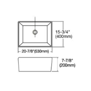 POSEIDON KCSS530 Fermentale Ceramic Kitchen Sink 530*400*200mm