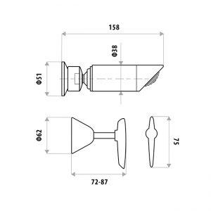 LINKWARE P1151B KIRRA LEVER SHOWER SET CHROME