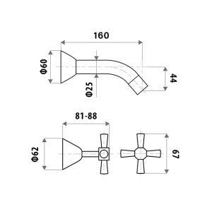 LINKWARE P7752B KIRRA PROFILE BATH SET CHROME