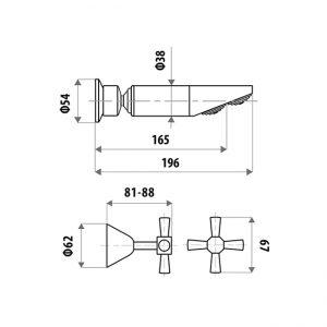 LINKWARE P7751B KIRRA PROFILE SHOWER SET CHROME