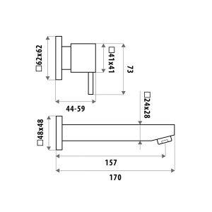 LINKWARE P8652B LAUREN BATH SET CHROME