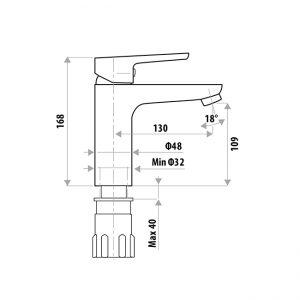 LINKWARE T995 LIBERTY BASIN MIXER CHROME / CHROME&WHITE / MATTE BLACK