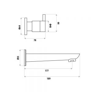 LINKWARE P6653/T998-1 LIBERTY BATH SET CHROME / MATTE BLACK