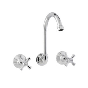 LINKWARE P261 MODE WALL SINK SET CHROME AND COLOURED