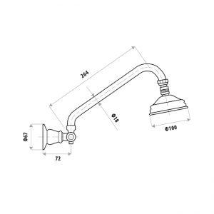 LINKWARE P859F NOOSA SHOWER ARM & HEAD CHROME