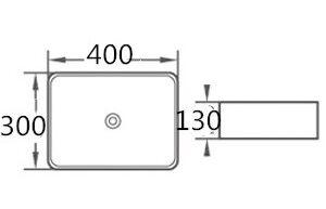 POSEIDON PA4030 Gloss White Above Counter Basins 400*300*130mm