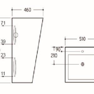 POSEIDON PF5146S Gloss White Free Standing Basins 850*460*510mm Gloss white