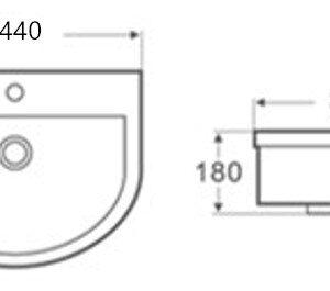 POSEIDON PW4336 Gloss White Basins 440*360*180mm