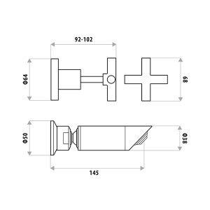 LINKWARE P951B SABINE SHOWER SET CHROME