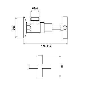 LINKWARE P954B SABINE WASHING MACHINE COCK SET CHROME