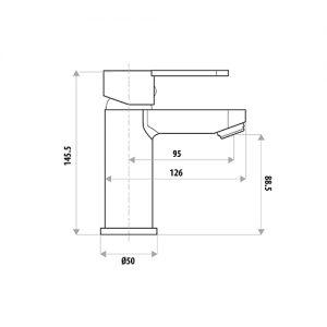 LINKWARE T905 LOUI BASIN MIXER CHROME / MATTE BLACK
