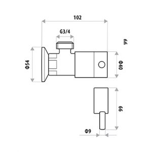 LINKWARE P3154B ELLE WASHING MACHINE COCK SET CHROME