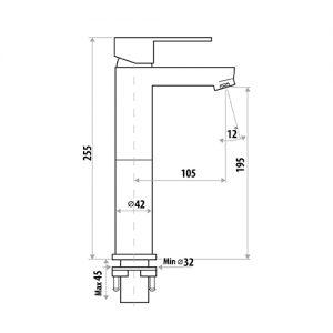 LINKWARE T904 LOUI HIGH RISE MIXER CHROME / MATTE BLACK