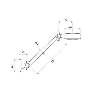 LINKWARE RL328B ALL DIRECTIONAL SHOWER HEAD WITH LINKLOCK ARM CHROME