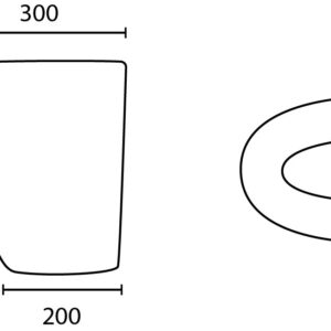 POSEIDON PW5542-P Gloss White Care Wash Basins 300*240*360 mm