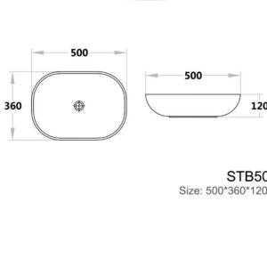 POSEIDON STB5036 Color Basins Solid Surface Basin 500*360*120mm