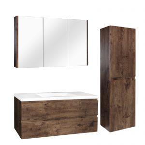 poseidon-qsv1200do-qubist-pvc-filmed-shaving-cabinet-triple-doors-1200l150d720h-mm-darkoak