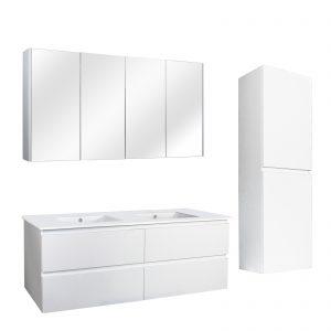 poseidon-qsv1500mw-qubist-pvc-filmed-shaving-cabinet-four-doors-1500l720h150d-mm-mattewhite
