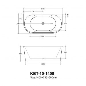 poseidon-elivia-elbt1400mw-back-to-wall-bathtub-1400735580mm-matte-white