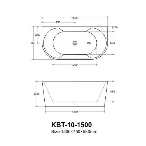 poseidon-elivia-elbt1500b-free-standing-bathtub-1500750580mm-matte-white-matte-black