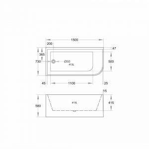 poseidon-corner-cbt-1500-510-btw-bathtub-1500730510mm-gloss-white