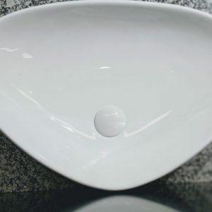 UNICASA LUSSO 59 BOAT & LUSSO / Triangular Counter Top Basin (Gloss White)