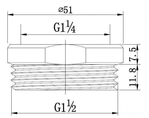 poseidon-pu-sp-mb-32-to-40mm-brass-adaptor-matte-black
