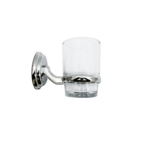 LINKWARE R2008 RENEW TUMBLER HOLDER WITH GLASS CHROME / WHITE