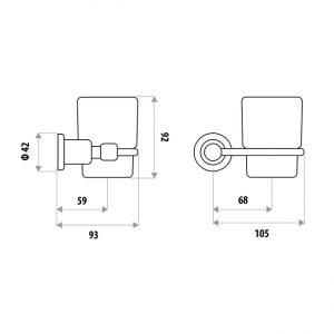 LINKWARE RR3008B RENOVATOR TUMBLER & HOLDER CHROME