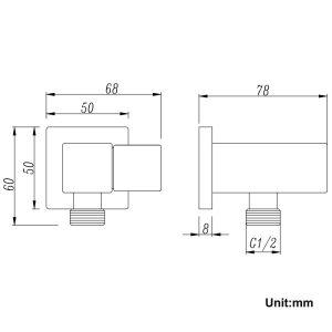 NORICO SR27-N ESPERIA SHOWER HOLDER & CONNECTOR CHROME AND COLOURED