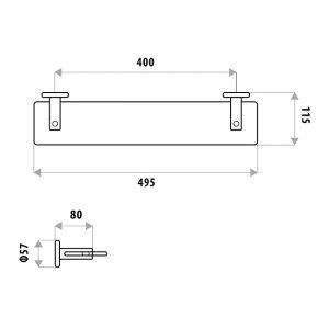 LINKWARE SR903B SABINE GLASS SHELF CHROME