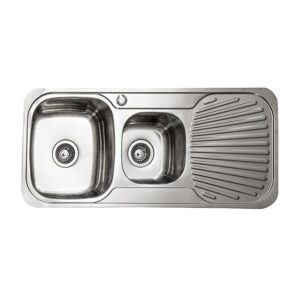 LINKWARE BL867L SYDENHAM SINKS ONE AND 3/4 LEFT HAND BOWL STAINLESS STEEL