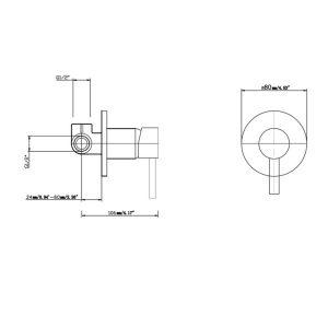 NORICO WM26 PENTRO ROUND SHOWER MIXER CHROME AND COLOURED