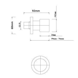 NORICO WT07 PENTRO SHOWER TAPS SET CHROME AND MATTE BLACK