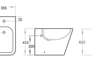POSEIDON KDK203 Qubist Bidet 595*355*410mm (Gloss White)