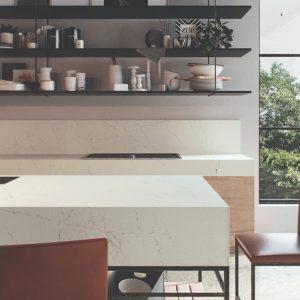 Caesarstone Aterra Blanca™ 5112 Vanity Stone Top 600mm - 1200mm