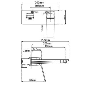 poseidon-pbm0153-ch-wall-mixer-with-spout-chrome