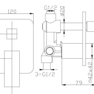 poseidon-dwm-02-wall-mixer-chrome