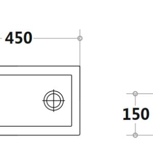 poseidon-4525b-poly-top-450250140mm-gloss-white