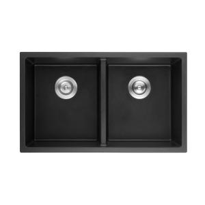 poseidon-qks7645d-mb-quartz-undermount-kitchen-sink-762457228mm-double-bowl-matte-black